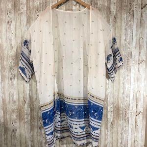 Other - Beautiful Aztec Kimono Swimsuit Cover Up Size XXL